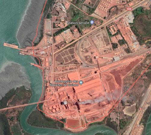 Port Conakry Kamsar Guinee